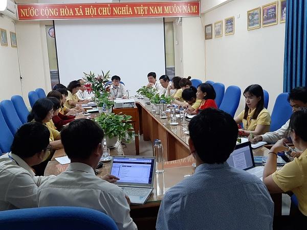 Hội đồng tự đánh giá của nhà trường họp để thông qua Kế hoạch tự đánh giá