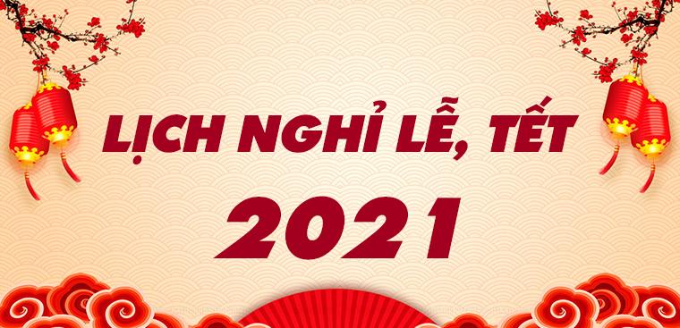 Thông báo Nghỉ tết Dương lịch năm 2021