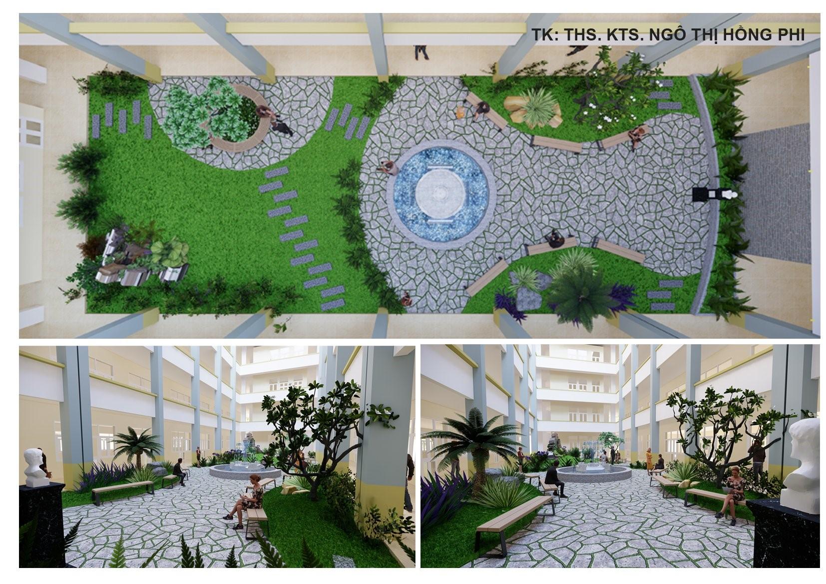 """Công trình """"Hoa Viên Ước Vọng"""" Trường Đại học Quang Trung"""