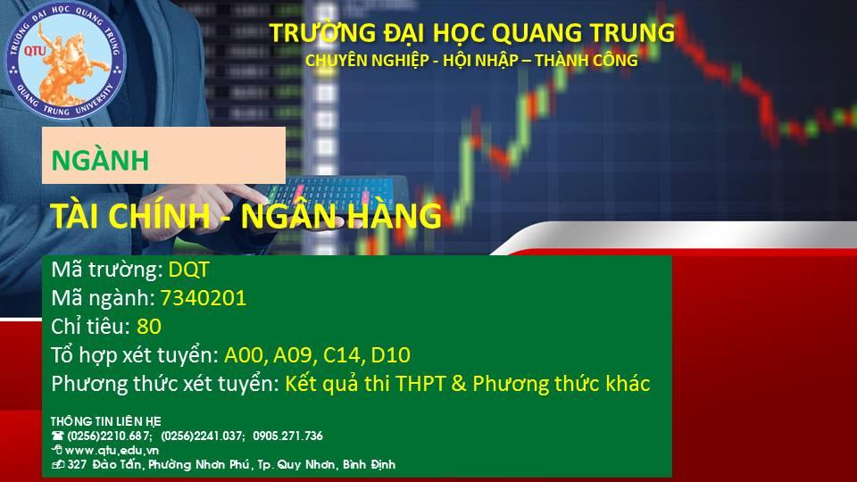 THÔNG TIN TUYỂN SINH NGÀNH TÀI CHÍNH - NGÂN HÀNG - NĂM HỌC 2021